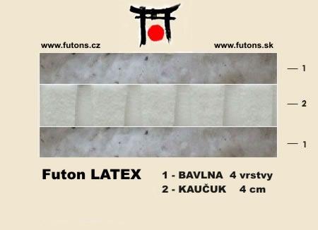 futon provedení latex