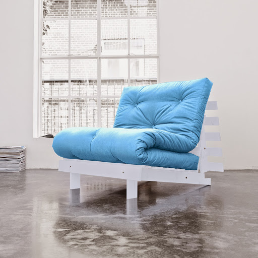 sofa root white 90 s futonem sky blue