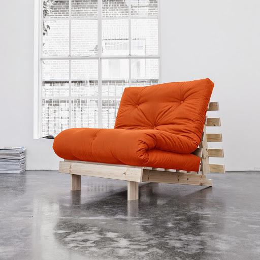 sofa root raw 90 s futonem orange