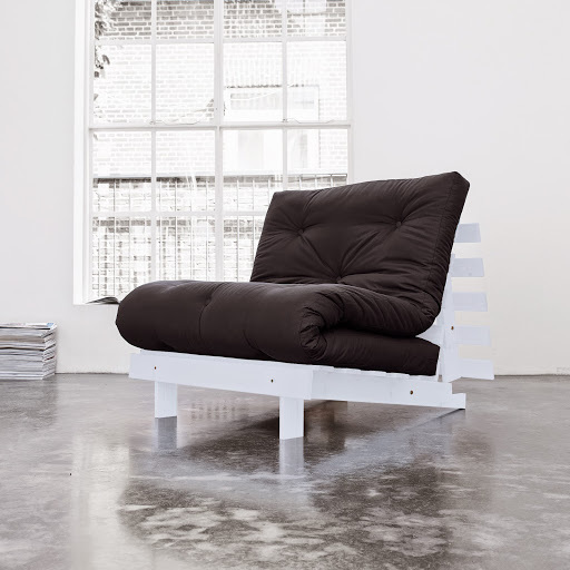 sofa root white 90 s futonem black