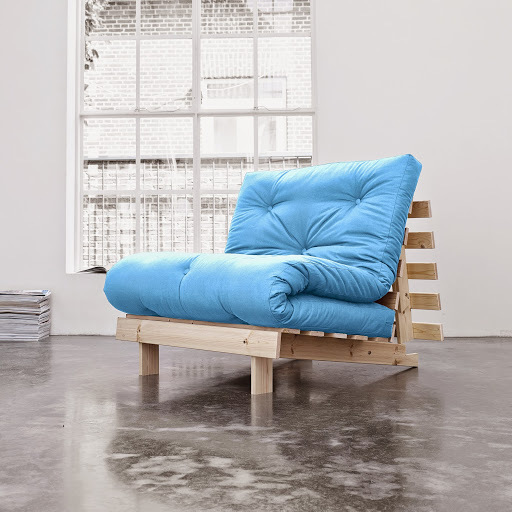 sofa root raw 90 s futonem sky blue